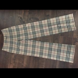 7034a67b3b8f10 Burberry Vintage Check High Waisted Trousers